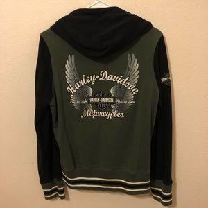 Harley Davidson Motorcycle Zip Up Jacket
